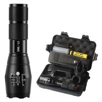Goreit Tactical Flashlight,Super Bright LED Flashlight with Rechargeable Battery & charger, High Lumen, Zoomable, 5 Modes, Water Resistant Torch,Handheld Light for Camping,Hiking, Emergency