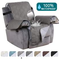 Turquoize Waterproof Recliner Chair Cover for Small Recliners Pet Quilted Sofa Covers for Leather Non Slip Furniture Protector Soft and Cotton Finish Crafted Sofa Protector/Slipcovers Recliner, Dove