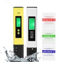GroTheory PH Meter and TDS Meter Combo, PH Tester Digital, PPM Digital Water Tester, 0.05ph High Accuracy Pen Type pH Meter, Readout Accuracy 3-in-1 pH and TDS EC Temperature Meter