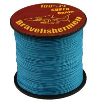 Bravefishermen Strong Pe Braided Fishing Line 10LB to 100LB Sea Blue