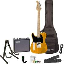Sawtooth ET Series Left-Handed Electric Guitar Kit, Butterscotch with Black Pickguard - Includes 10W Amp and ChromaCast Accessories