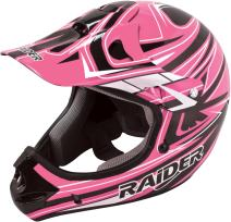 Raider 55-564P-17 Rush Women's Adult MX Off-Road Helmet, Pink (XX-Large)