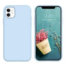 GaoBao iPhone 11 Case, Anti-Slip Liquid Silicone Rubber with Soft Microfiber Cushion Shockproof Drop Full Body Protective Phone Case Cover for iPhone 11 (6.1 inch) 2019, Light Blue