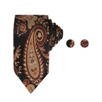 Y&G Men's Fashion Multi-Colored Patterns Necktie Formal Wear Silk Tie Cufflinks Set 2PT with Presents Box