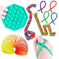 YOPINSAND 8 Pack Sensory Fidget Toys Set, Fidget Toy for Kids Adults, Sensory Toys Perfect for Birthday Party Favors, Classroom Rewards