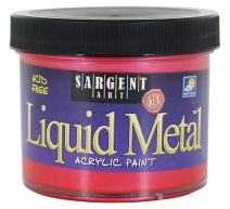 Sargent Art 22-1220 4-Ounce Liquid Metal Acrylic Paint, Red