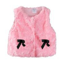 LittleSpring Newborn Baby Girls Fleece Vest with Bows