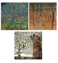 "Alonline Art - Forest Tree Apple by Gustav Klimt | print on wall sticker vinyl decal (Rolled) | 12""x12"" - 30x30cm 