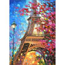 Diamond Painting Kits for Adults Kids, 5D DIY Eiffel Tower Diamond Art Accessories with Round Full Drill for Home Wall Decor - 11.8×15.7Inches