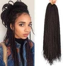 Alileader 6 Packs/Lot 22 Strands/Pack Box Braids Crochet Hair 30 Inch 1cm in Diameter 3X Synthetic Braiding Hair Extensions Crochet Braids Hair (#2)