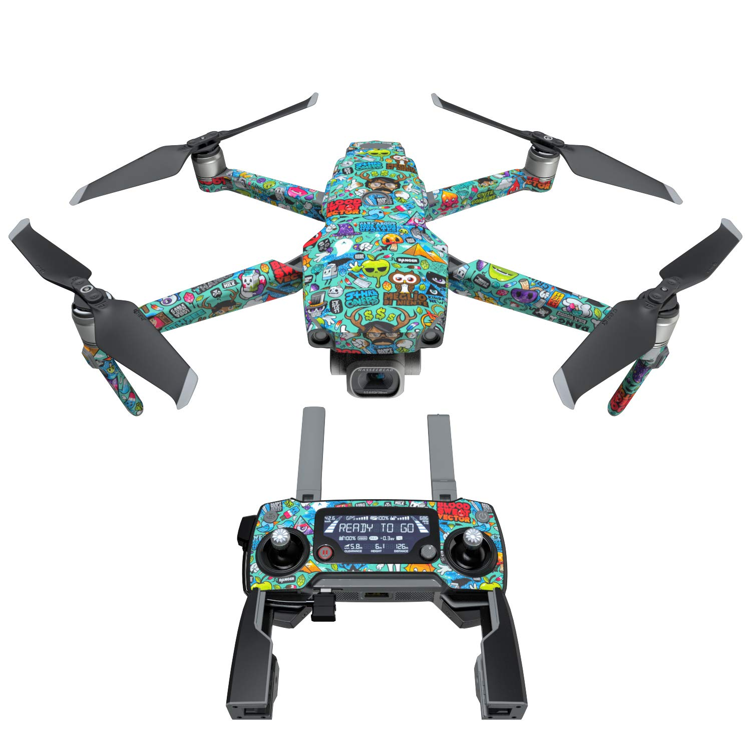 Jewel Thief Decal Kit for DJI Mavic 2/Zoom Drone - Includes 1 x Drone/Battery Skin + Controller Skin