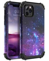 "iPhone 11 Pro Max Case, BENTOBEN 3 in 1 Hybrid Hard PC Soft Rubber Heavy Duty Rugged Bumper Shockproof Anti Slip Full-Body Protective Phone Case Cover for iPhone 11 Pro Max 6.5"" 2019, Space"