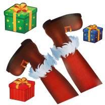 Coogam Christmas Car Magnets – Elf Legs Reflective Magnetic Decoration Decal Lights Automotive Magnet Accessories Set for Car Fridge Garage Mailbox Vehicle Truck Xmas Holiday Décor