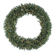 "Vickerman 60"" Douglas Fir Wreath with 200 Clear Lights"