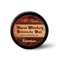 Burnt Whiskey Men's All Natural Moustache Wax, Signature.5 oz