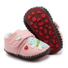 Babelvit Baby Girls Boys Soft Rubber Sole Walking Sneakers Hard Bottom Infant Cartoon Slippers