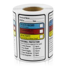 """Right to Know Blank Writeable Sign SDS MSDS Chemical Name HMIG Write-in 2.5"""" x 1.5"""" Stickers Labels for Warning, Workplace, Personal Checks, Secure Material Labeling (300 Labels per roll / 4 Rolls)"""