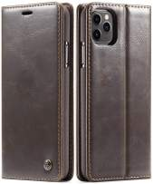 SINIANL Case for iPhone 11/11 Pro/11 Pro Max Leather Wallet Case Folio Book Design with Kickstand, Credit Card Slot