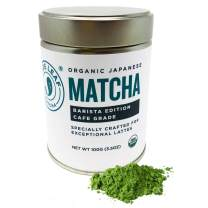 Jade Leaf Barista Ceremonial Grade Matcha Green Tea Powder - Organic, Authentic Japanese Origin [3.5oz Tin]