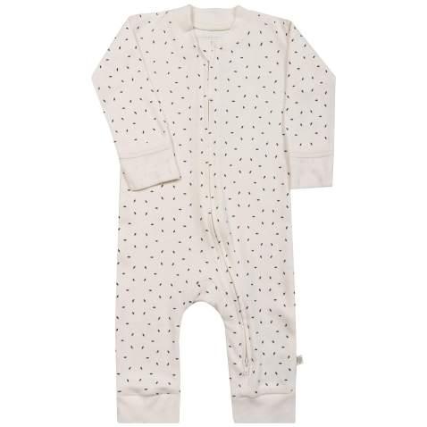 MakeMake Organics Organic Cotton Romper 2-Way Zippered Easy Diaper Change Pajamas Jammies Sleep Suit Playsuit