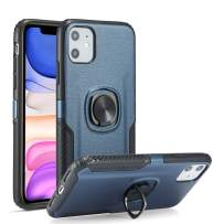 DEFBSC iPhone 11 Pro Max Phone Case with Ring Kickstand,360 Degree Rotating Ring Kickstand Armor Defender Shockproof Protective Case Cover for iPhone 11 Pro Max 6.5 Inch,Blue