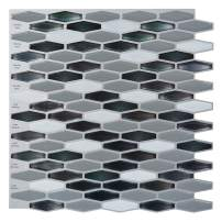 "Art3d Peel-N-Stick Kitchen Backsplash Wall Tile Vinyl Wall Sticker, 12"" x 12"" Pack of 6"