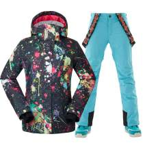 GSOU SNOW Women High-Tech Ski Jacket and Pants Snowboard US Standard Jacket Coat
