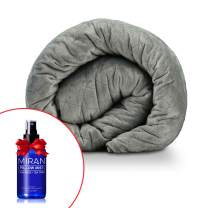 """MIRAN Weighted Blanket for Adults with Removable Cover  Includes Free Pillow Mist   Premium Washable Heavy Comforter   for All Seasons   60"""" by 80""""   20lb (9kg)   King/Queen/Full Size"""