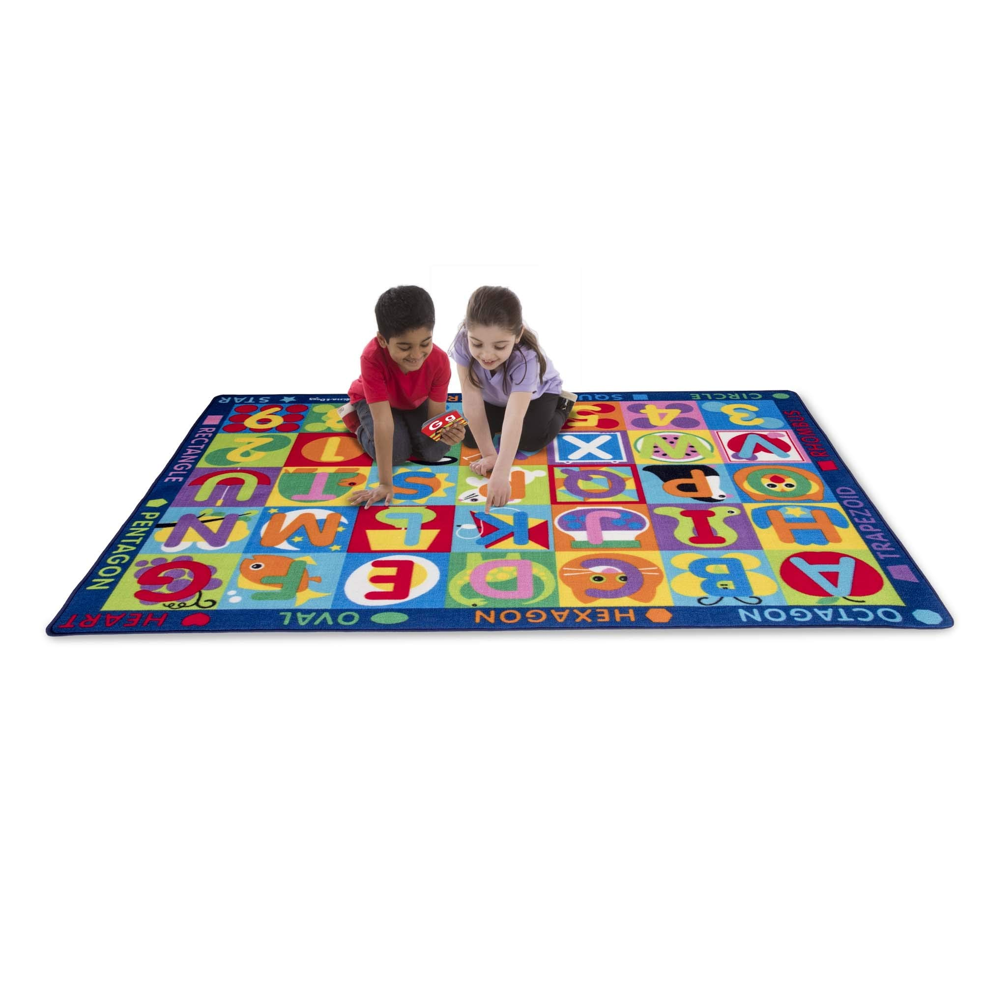 """Melissa & Doug Jumbo ABC-123 Rug (Multicolor, Oversized Activity Rug, 36 Game Cards, 58"""" x 79"""", Great Gift for Girls and Boys - Best for 3, 4, and 5 Year Olds), 5193"""