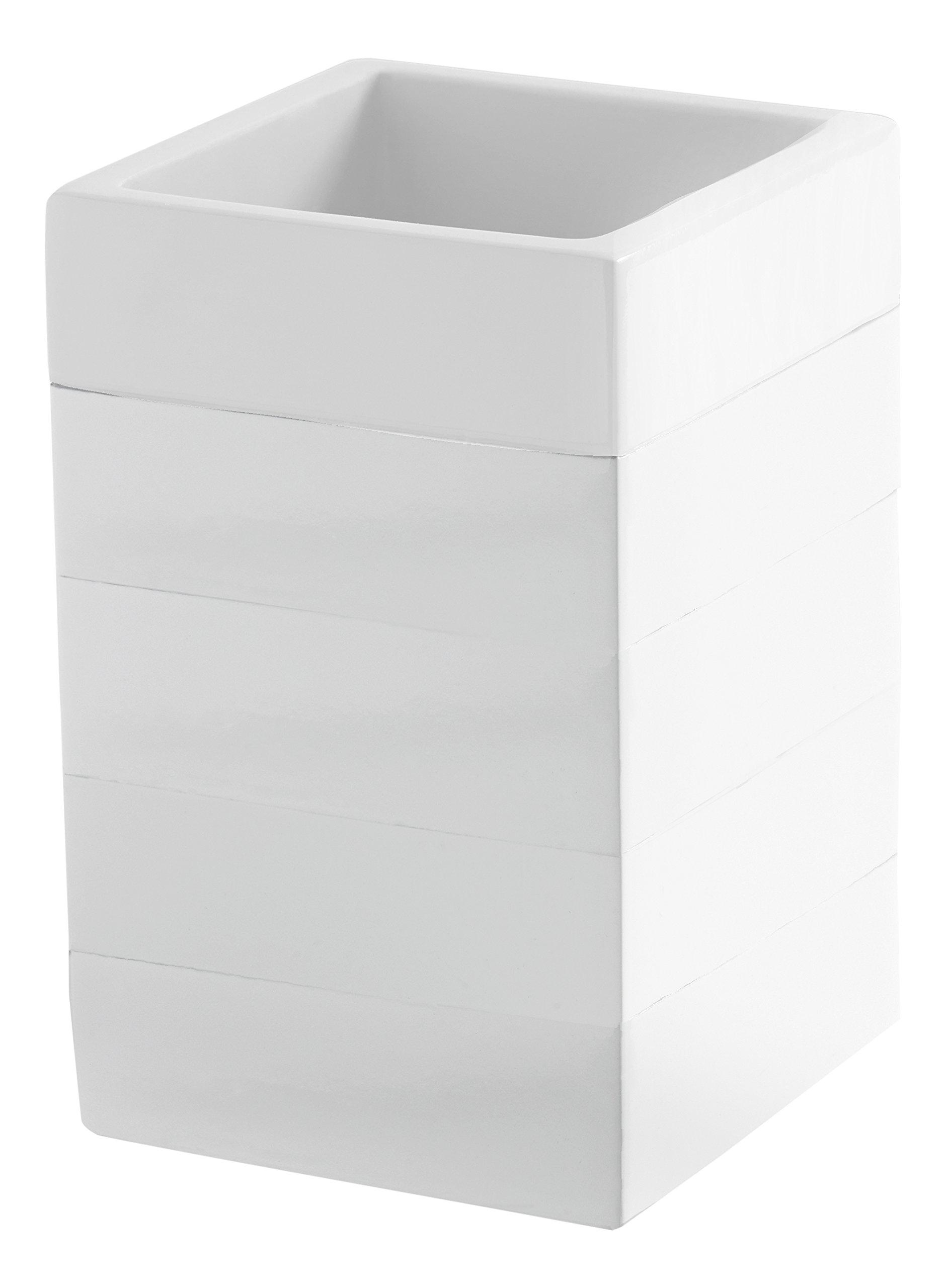Kassatex Fine Linens Cabana Accessories Tumbler White
