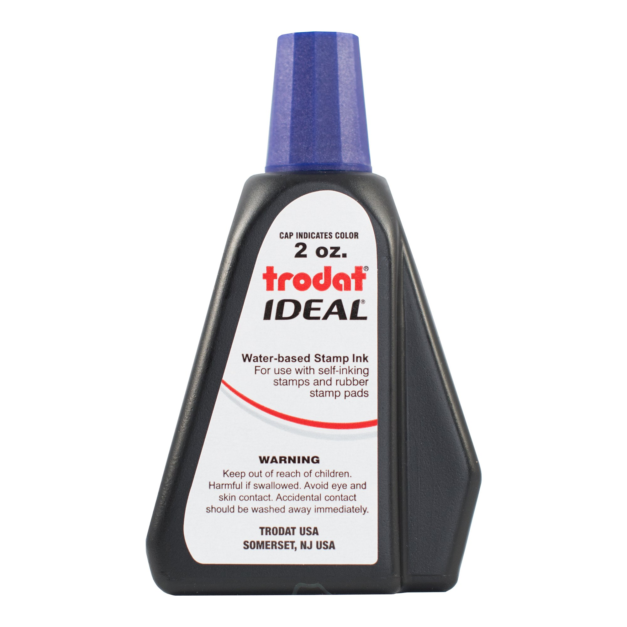 Trodat 53217 Ideal Premium Replacement Ink for Use with Most Self Inking and Rubber Stamp Pads, 2 oz, Violet