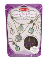Melissa & Doug Jewelry Made Easy Press-a-Pendant Necklace-Making Set (Great Gift for Girls and Boys - Best for 8, 9, 10, 11, 12 Year Olds and Up)