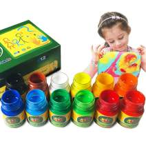 iMustech Finger Paints for Toddlers Non Toxic & Washable,12 Colors Kids Paint Set for Fun Art Supplies for Preschoolers,Arts & Crafts Supplies