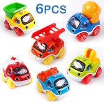 Mini Tudou Toy Cars for Toddlers Pull Back Cars Baby Toys for 1 2 3 Year Old Boy Girl Construction Vehicles Role-Play Fun Toy Gifts for 18M 20M 24M+