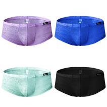 sandbank Men's Sexy Lace Panties Translucent Nylon Pouch Boxer Briefs Underwear