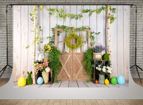 Kate 7x5ft Photography Backdrop Fence Green Leaves Decoration Floral Photo Background