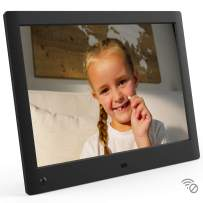 NIX Advance 10 Inch USB Digital Picture Frame - HD IPS Display, Auto-Rotate, Motion Sensor, Remote Control - Mix Photos and Videos in The Same Slideshow