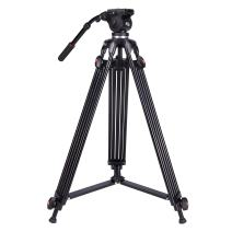Professional Video Tripod,73 Inchs Heavy Duty Aluminum Alloy Tripod with Fluid Drag Head, 1/4″and 3/8″Quick Release Plate,Max Loading 7KG,with Carrying Bag for Video Camera Camcorder