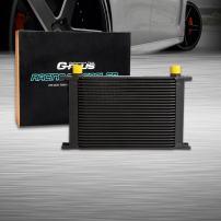 25 Row AN-10 AN10 Universal Aluminum Racing Engine Transmission Oil Cooler Black