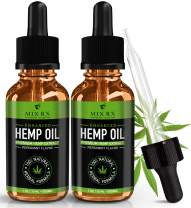 (2 Pack) Hemp Oil for Pain Relief Anxiety Sleep Mood Stress Immune Immunity Support - 500mg - Best Pure Natural Organic Vitamins Fatty Acids Hemp Seed Extract Tincture Drops