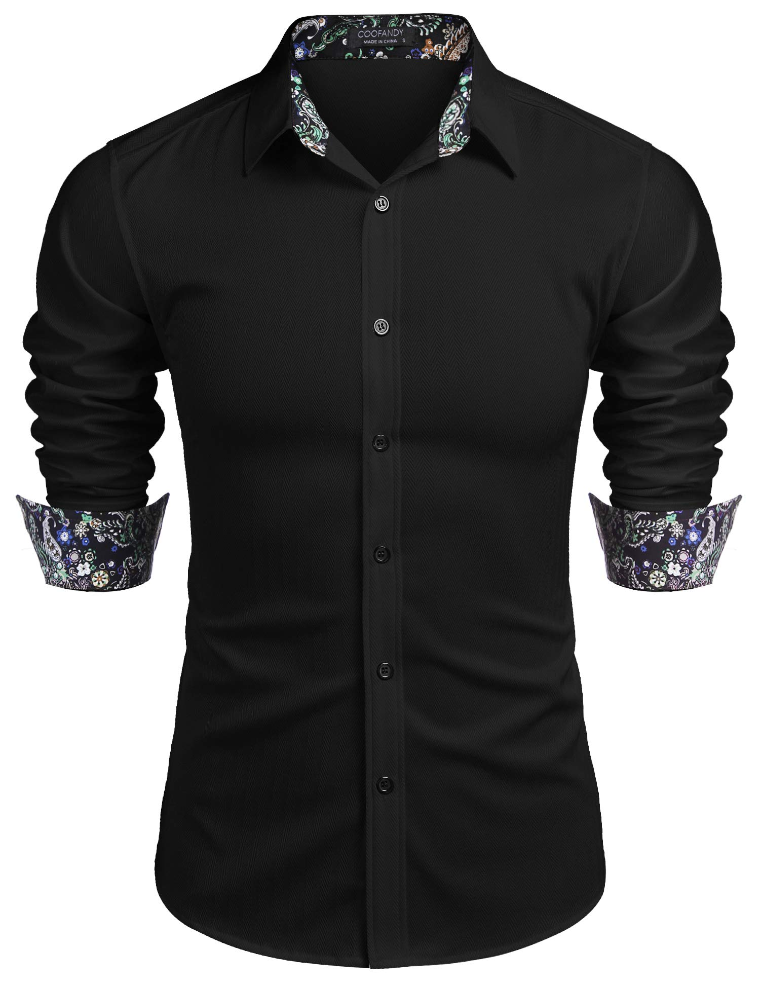COOFANDY Men's Muscle Fit Untucked Shirts Wrinkle Free Dress Shirt Long Sleeve Casual Button Down Shirt