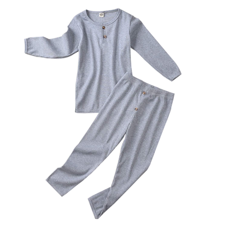 Toddlers Baby Cotton 2-Piece Pajamas PJ Sleepwear Set Fall Winter Clothes