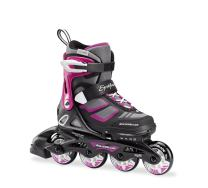 Rollerblade Spitfire XT Girl's Adjustable Fitness Inline Skate, Black and Pink, Junior, Youth Performance Inline Skates