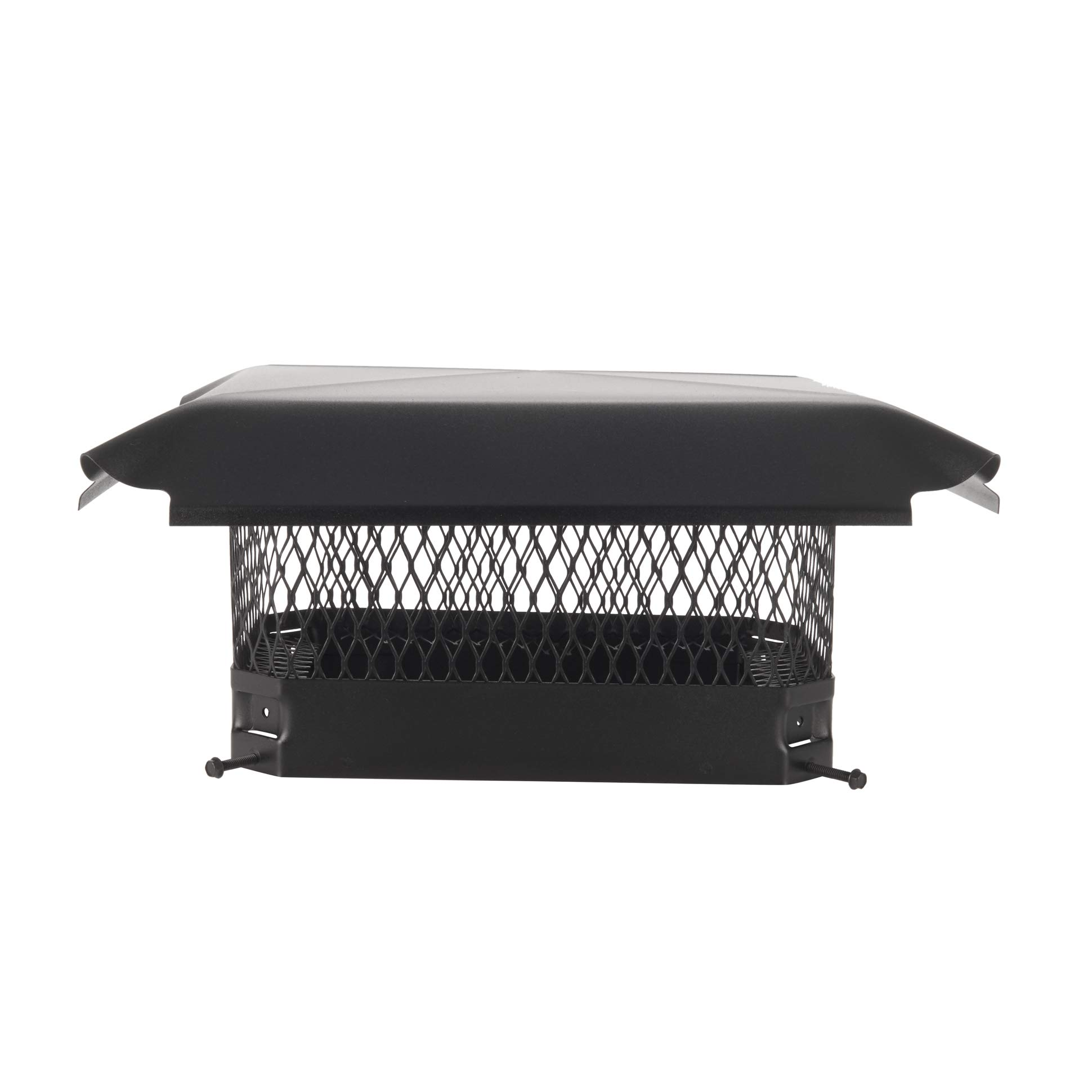 Draft King CBC913 Black Bolt On Galvanized Steel Single Flue Chimney Cap for Use in California and Oregon
