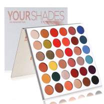 Beauty Glazed Highly Pigmented Eyeshadow Palette, Profession 36 Colors Makeup Palette Mattes Shimmers Naked Smokey Glitter Cream Colorful Powder Blendable Long Lasting Waterproof Eye Shadow Palette