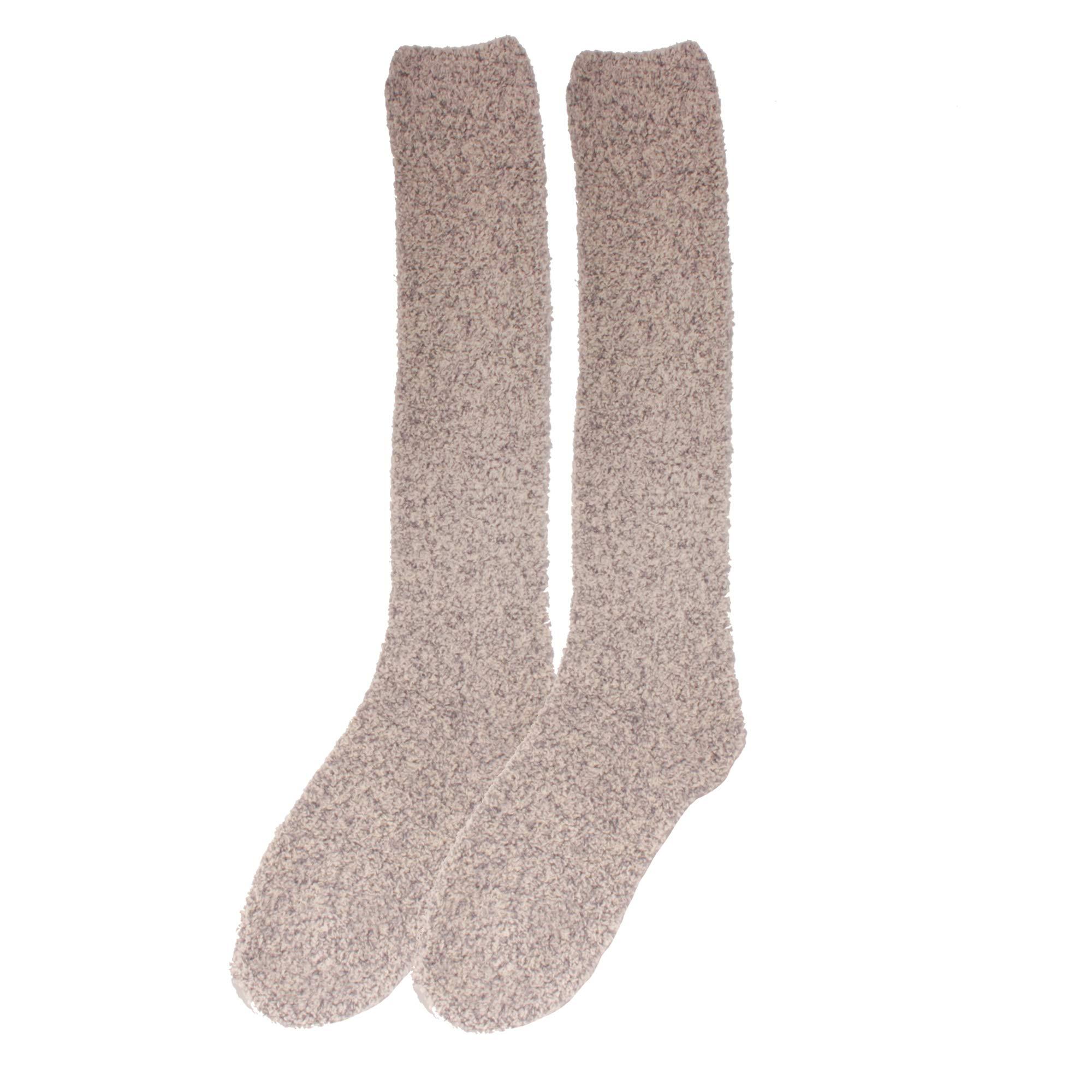 Women's Fuzzy Feather Soft Cozy Knee High Socks