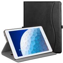 "Ztotop Case for iPad Air 10.5"" (3rd Gen) 2019/iPad Pro 10.5"" 2017, Premium Leather Business Slim Multi-Angle Viewing Stand Folio Cover with Auto Wake/Sleep Protective Smart Case, Black"
