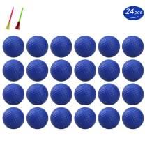 KOFULL Practice Foam Golf Balls, Golf Foam Sponge Soft Elastic Practice Indoor &Outdoor Ball -24/ Pack (Pink,Red,Blue,Yellow,Orange) ¡