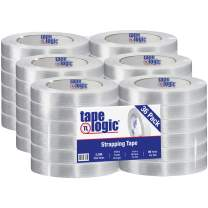 """Partners Brand PT9151300 Tape Logic 1300 Strapping Tape, 1"""" x 60 yd, Clear (Pack of 36)"""