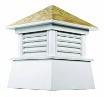 """Good Directions Kent Vinyl Cupola with Wood Roof 42"""" x 54"""""""